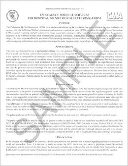 Do Not Resuscitate (DNR) Form (Spanish): California Medical Association,  California Emergency Medical Services Authority: 9780990397441: Amazon.com:  Books