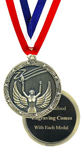 QuickTrophy Victory Medal - Engraved Economy - Medal Gold Awards