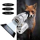 45X Mini Microscope Magnifier Magnifying Glass Jeweler Loup 2LED Light