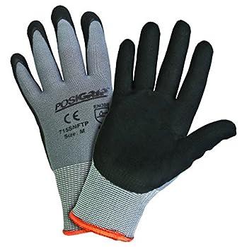 Black Single Dotted Work Gloves Industrial Grade Women/'s Size 6 Dozen 72 Pairs