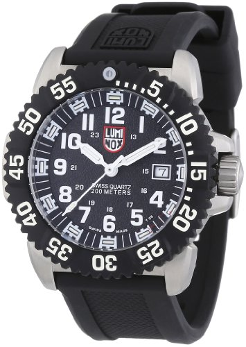 Luminox Men's 3151 Navy SEAL Luminescent Watch with Black Rubber (Luminox Divers Watch)