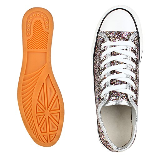best-boots Damen Turnschuh Sneaker Slipper Halbschuhe sportlich Mehrfarbig Nuovo