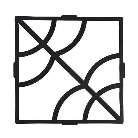 Molde de pavimentación, 15.75 x 15.75 x 1.57 pulg. Moldes de concreto para adoquines