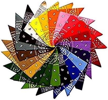 Conjunto de 12 bandanas con estampado, 12 colores, 100 % algodón ...