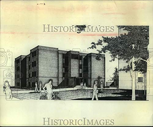 Vintage Photos 1976 Press Photo Artists Rendition of St Rose College Residence Hall, Albany, NY