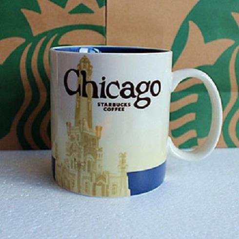 Starbucks Coffee 2011 Chicago Mug, 16 fl oz