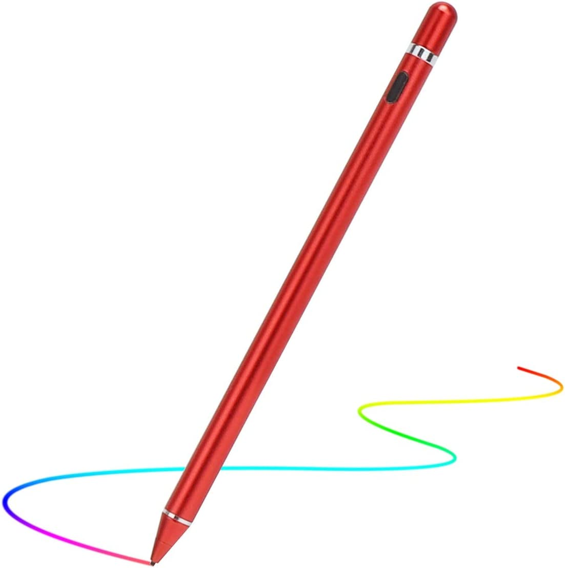 Stylus Pen para pantallas táctiles para iPhone iPad (Rojo)