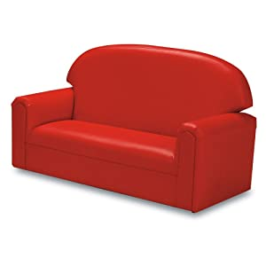 Brand New World Furniture FIVR100 Brand New World Toddler Premium Vinyl Upholstery Sofa, Red