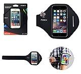DFV mobile - Funda Profesional Brazalete de Neopreno Premium para Brazo Deporte Correr y Gimnasio para => Hiwaves Hi5X > Negra