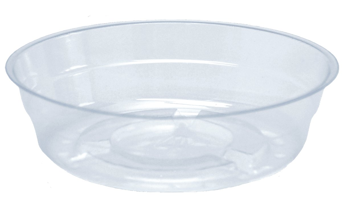 CWP CW-400N Vinyl Plant Saucer, 4-Inch, Clear, 20 Poly Bags of 50 Each Per Mas ter Case