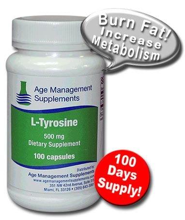 L-Tyrosine 500 mg Acide aminé thyroïde supplément Nutrition des