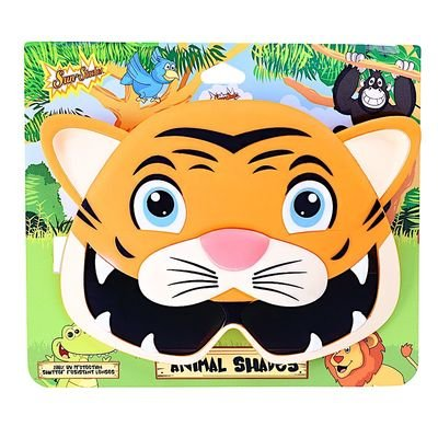 Sunstaches Kids Animal Tiger Sunglasses, Instant Costume, Party Favors, (Tiger Hunter Costume)