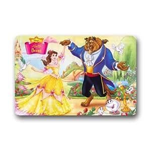 Famous Classic Cartoon Disney Princess Characters Beauty And The Beast Custom Doormat 23.6X15.7In