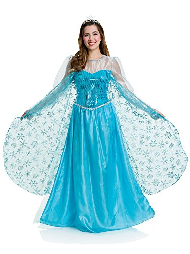 Halloween Ice Costume (Charades Women's Ice Queen Costume, Blue,)