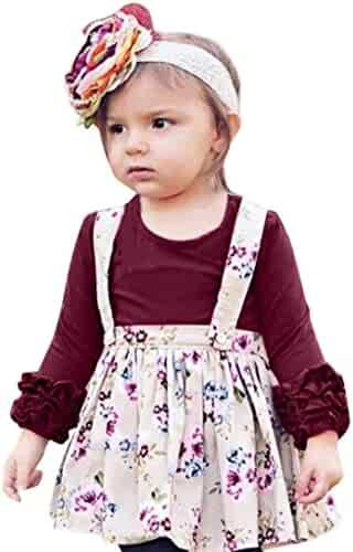 5988b343c ... Plaid Romper Jumpsuit Clothes. seller: XEDUO. (0). G-real Kids Toddler Baby  Girls Ruffle Long Sleeve Solid Color T Shirt Tops Soft