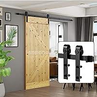 """U-MAX 6.6 FT Kit de herrajes deslizantes para puertas de madera de granero deslizante básico (""""J"""" básico)"""