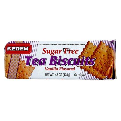 Kedem Tea Biscuits Vanilla Sugar Free Packages, 4.5 OZ (Pack of 12)
