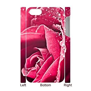 3D Bumper Plastic Case Of Colorful Rose customized case For Iphone 4/4s