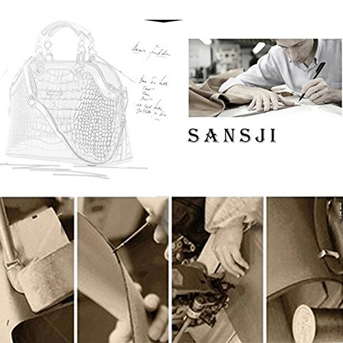 bandoulière élégant en Sac mode élégant élégantes verni à en cuir de dames noir Sansji 6aq4qZwx