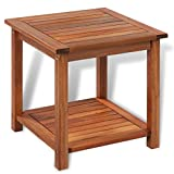 Wood Patio Table vidaXL Outdoor Acacia Wood End Table Oil Finished Patio Garden Furniture Porch Poolside