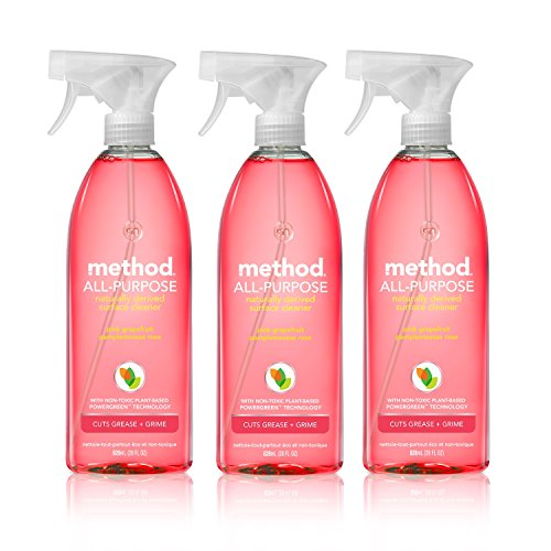 (Method All-Purpose Natural Surface Cleaner, Pink Grapefruit, 28 Ounce (3 Count))
