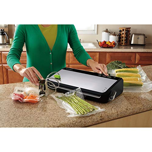 FoodSaver FM2435 Vacuum Sealer Machine with Bonus Handheld Sealer and Starter Kit | Safety Certified | Silver