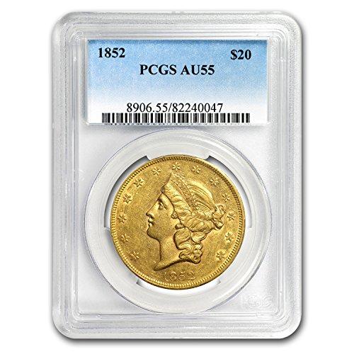 1852 $20 Liberty Gold Double Eagle AU-55 PCGS G$20 AU-55 PCGS