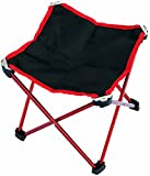 Vocni Portable Slacker Folding Stool Chair For Camping Fishing Travel Hiking Garden Beach,Red,Large
