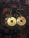 Japan 5 Yen Coin Earrings