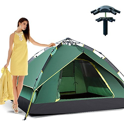 Outdoor Hiking Automatic Pop-up Double Layer Instant Open Camping Family Umbrella Tent Waterproof for 3-4 Person Umbrella Tent