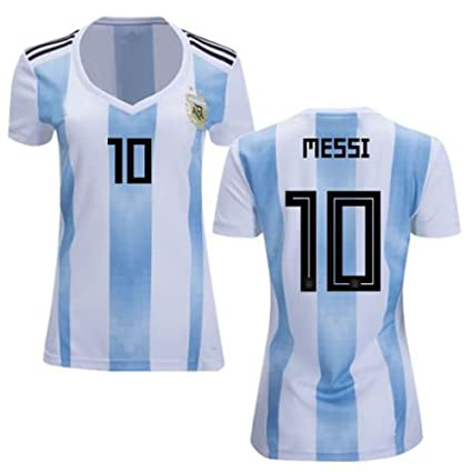 the latest 0086a e586e Argentina Messi World Cup 2018 18 Women Replica Home Jersey