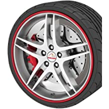 "GoBadges RB01 Red Rim Blade, (fits 4 wheels up to 22"")"
