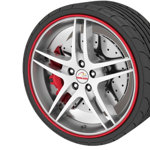 GoBadges RB01 Red Rim Blade, (fits 4 wheels up to 22