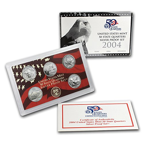 2004 S State Quarters Silver Proof Set Brilliant - Texas Rounds Silver