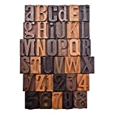 Tim Holtz Idea-ology Letterpress Print Blocks, 35-Piece, 1-Inch Letters and Numbers, Wood, TH93130