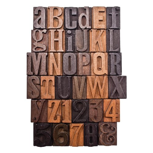 Letterpress Print Blocks by Tim Holtz Idea-ology, 35 Pieces,