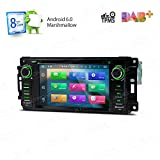 XTRONS Android 6.0 Octa-Core 64Bit 7 Inch Capacitive Touch Screen Car Stereo Radio DVD Player GPS CANbus Screen Mirroring Function OBD2 Tire Pressure Monitoring for Jeep Dodge Chrysler