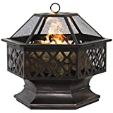 Best Choice Products BCP Hex Shaped Backyard Fire Pit