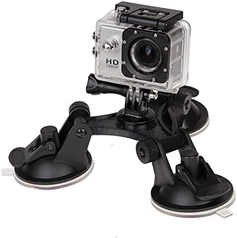 Durable Xiaoyi and Other Action Cameras XM70-A Triangle Direction Suction Cup Mount with Hexagonal Screwdriver for GoPro New Hero //HERO6//5//5 Session //4 Session //4//3+ //3//2 //1