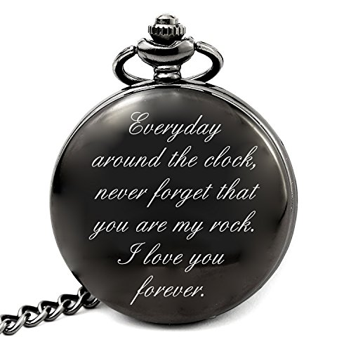 LEVONTA Unique Gifts for Grandpa Birthday Gifts Retirement Gifts Personalized Pocket Watch With Chain (To Men) by LEVONTA