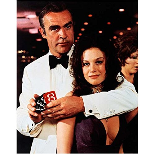 Sean Connery as James Bond Holding Casino Girl 8 x 10 Inch Photo