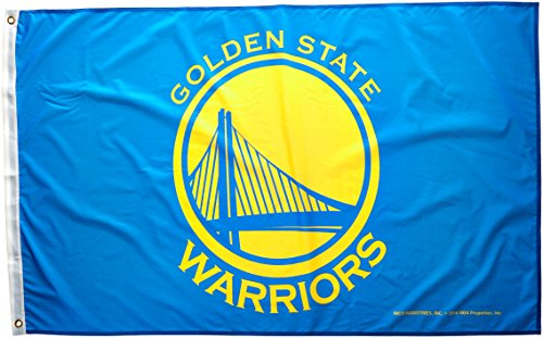 NBA Golden State Warriors Banner Flag, 3' x 5', Blue by Rico