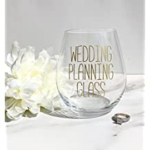 Wedding Planning Glass Stemless Wine Glass