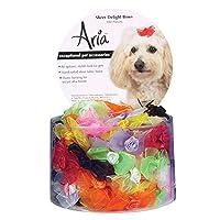 Aria Sheer Delight Bows para perros, botes de 100 piezas