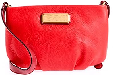 2e346536c64718 Amazon.com  Marc By Marc Jacobs New Q Percy Leather Crossbody Bag Rosey Red  Multi New  Shoes