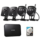 Zmodo Replay 4CH 720P 1TB Wireless Home Surveillance Security Camera System – 2 Outdoor & 2 Indoor IP Network Camera 4 Channel NVR 1TB Hard Drive