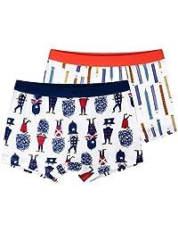 Boys Boxer Briefs Kids Underwear Cotton Boxer Shorts Soft 2 Pack, 4-12 Years