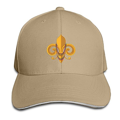 PAWJN Classic Fleur De Lis Baseball Caps Adjustable Sandwich Hats