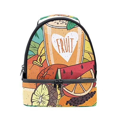 con y palma aislante correa el para escuela con tropical diseño para pincnic FOLPPLY la frutas ajustable de Bolsa de almuerzo de hombro vqtt8Y