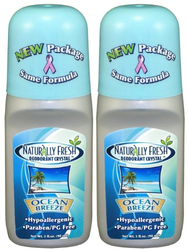 - Naturally Fresh Deodorant Crystal Roll-On Deodorant, Ocean Breeze - 3 oz - 2 pk